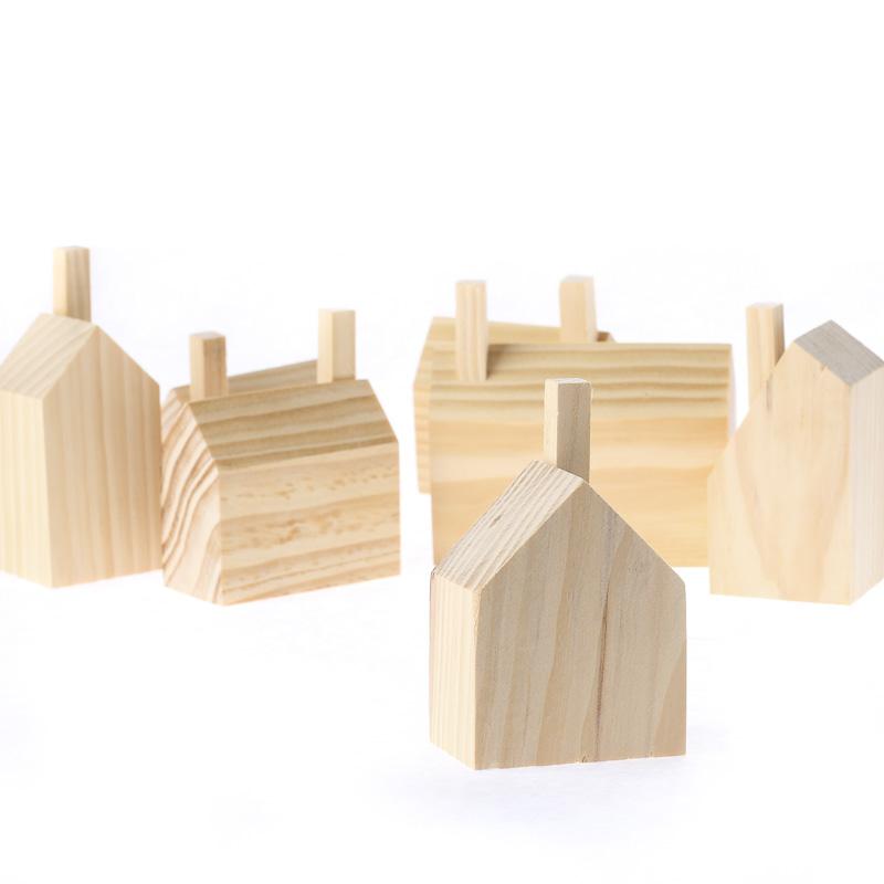 Unfinished Wood Houses Set Table Decor Home Decor
