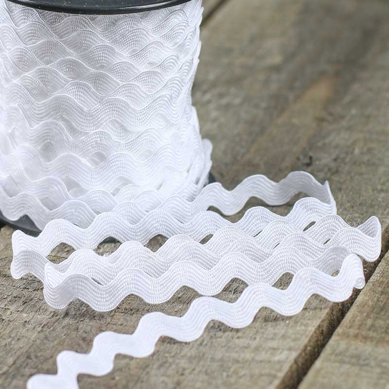 White Rick Rack Trim Ribbon And Trims Craft Supplies