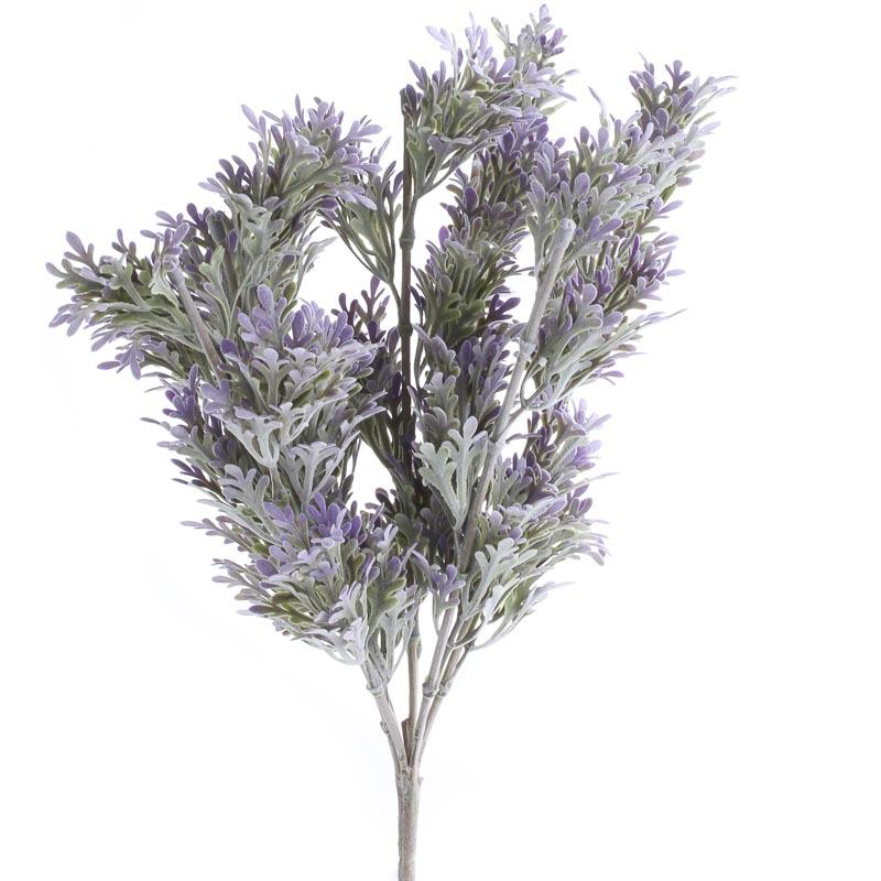 Lavender Artificial Dusty Miller Bush - Bushes and ...