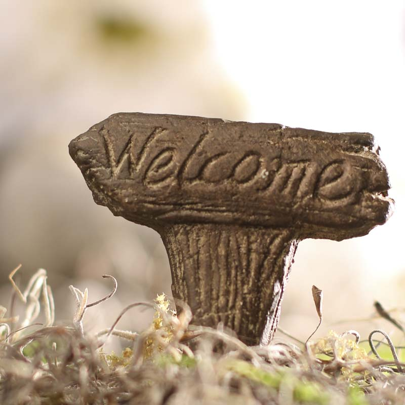 "Wood Look Miniature ""Welcome"" Sign - What's New - Craft Supplies"
