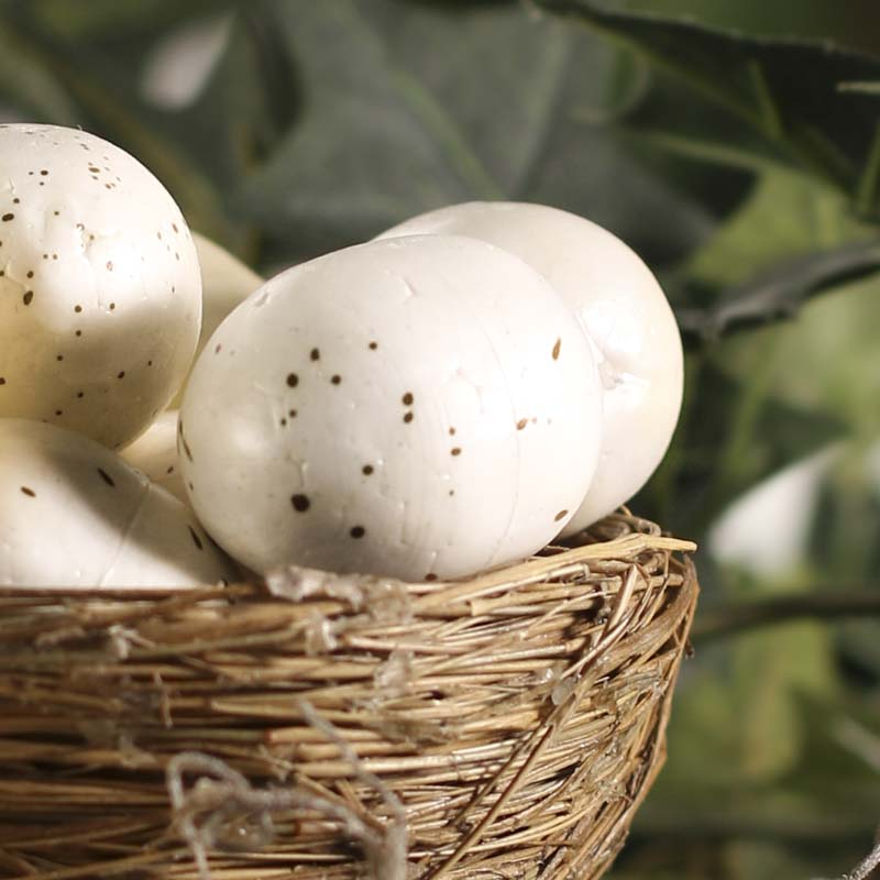 Speckled White And Cream Artificial Eggs Artificial