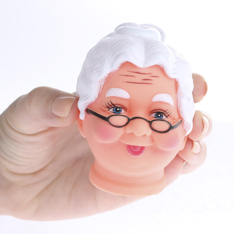 Mrs Claus Vinyl Doll Head