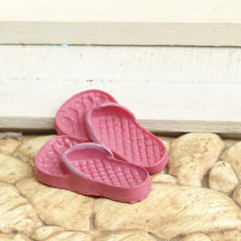 Dollhouse Miniature Flip Flops Bedroom Miniatures Dollhouse