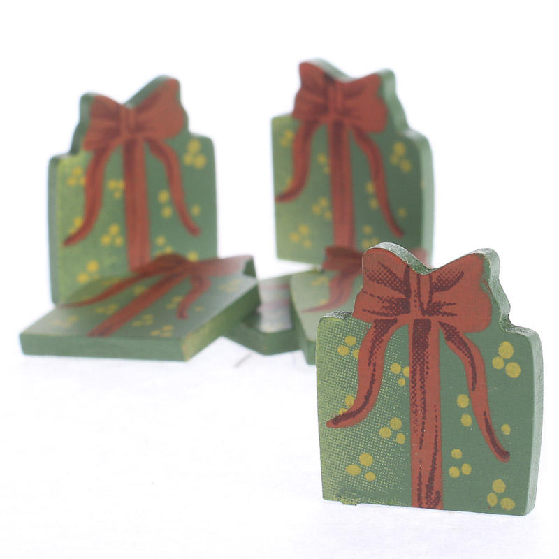 Small christmas gift box wood cutouts craft supplies for Wooden christmas cutouts