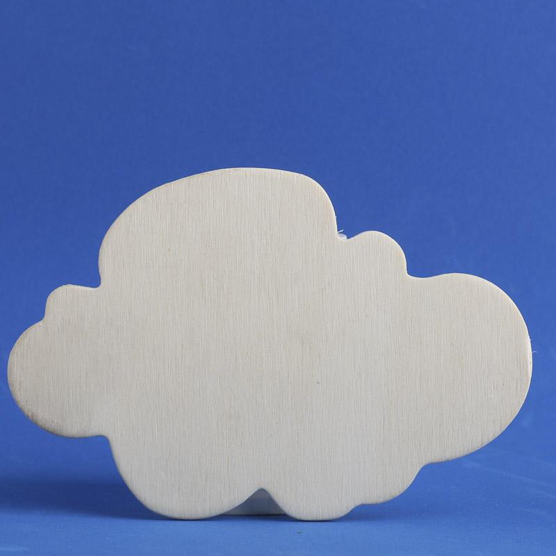 Unfinished Wood Cloud Cutout - Wood Cutouts - Unfinished ...