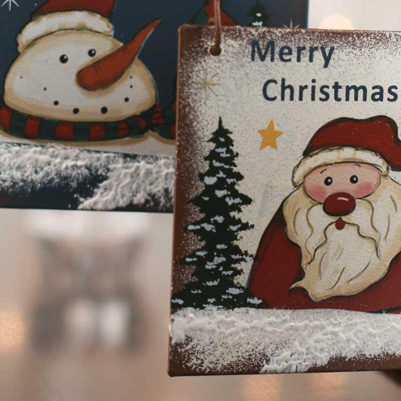rustic  u0026quot merry christmas u0026quot  ornament sign