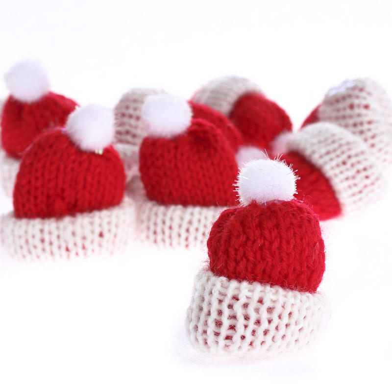 Tiny red knitted hats what 39 s new holiday crafts for Tiny top hats for crafts