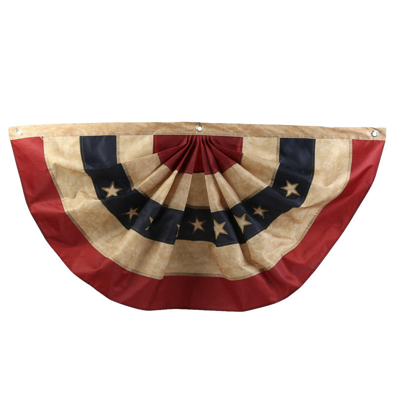 Antiqued American Flag Bunting