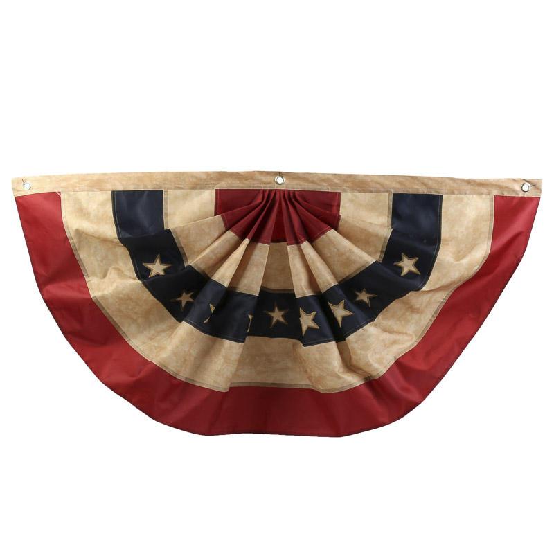 Antiqued American Flag Bunting Americana Decor Home Decor
