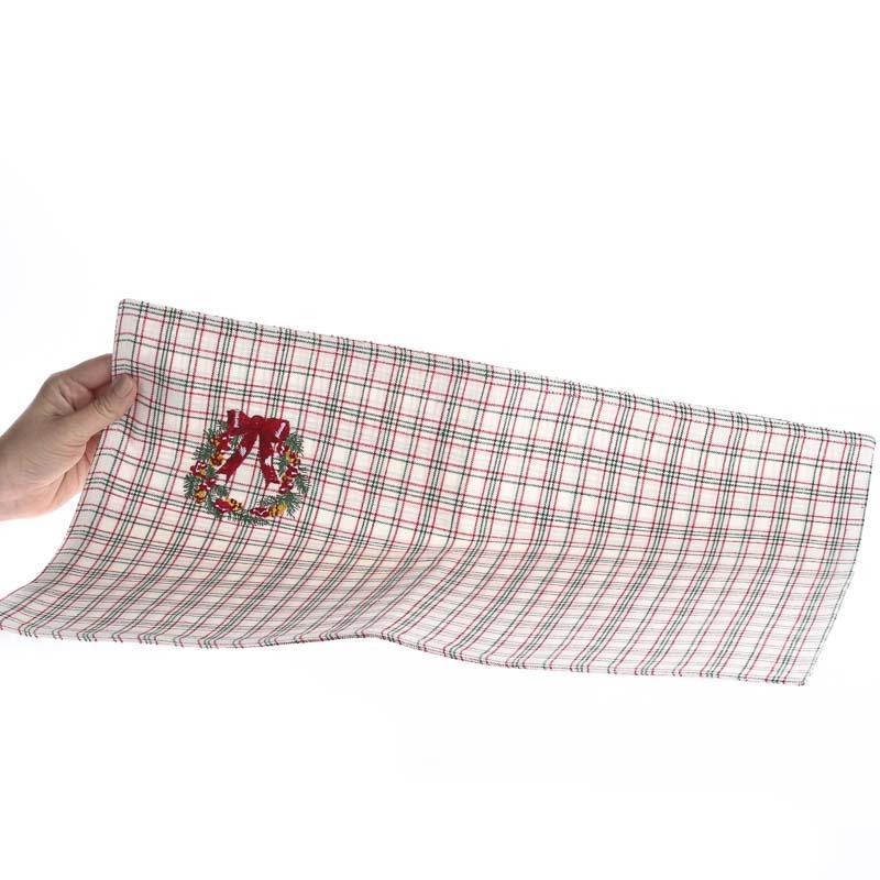 country plaid christmas cloth placemat primitive sale sales. Black Bedroom Furniture Sets. Home Design Ideas