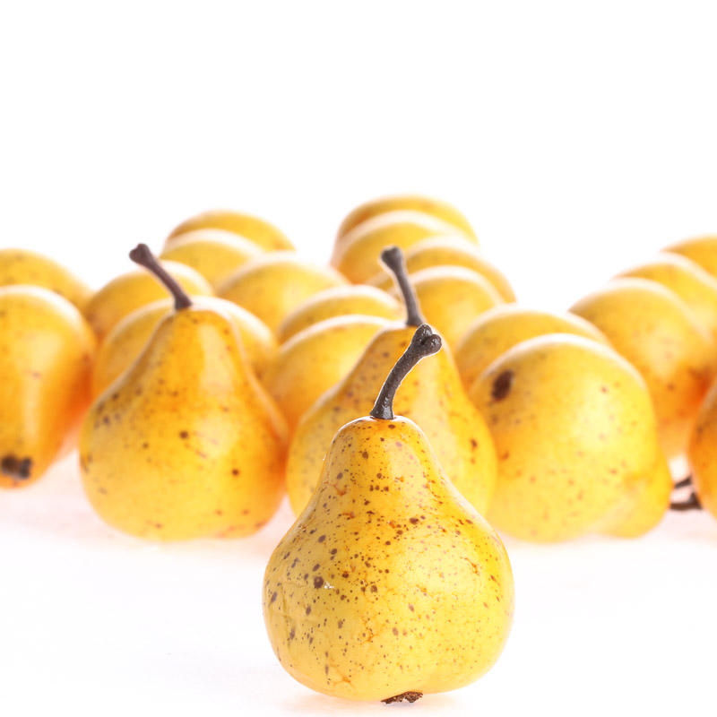 Small yellow artificial pears vase and bowl fillers for Artificial pears decoration