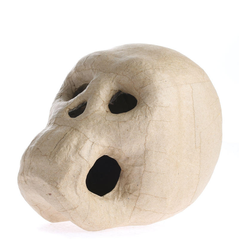 Life sized paper mache skull table decor fall and for Finishing paper mache