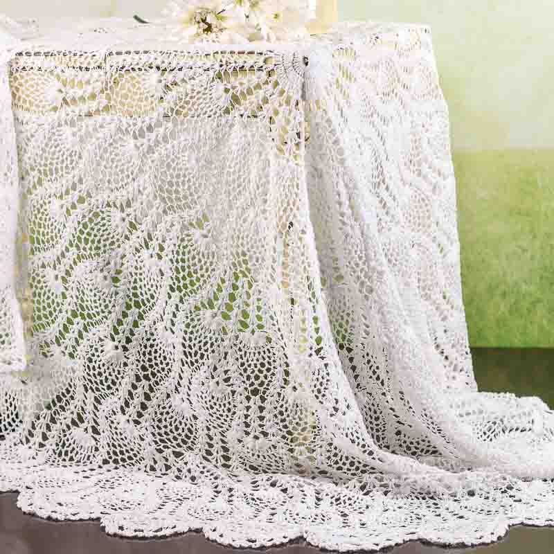 White Cotton Doily Table Cover Table Covers And Runners Wedding