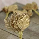 Gold Artificial Rose Leaves