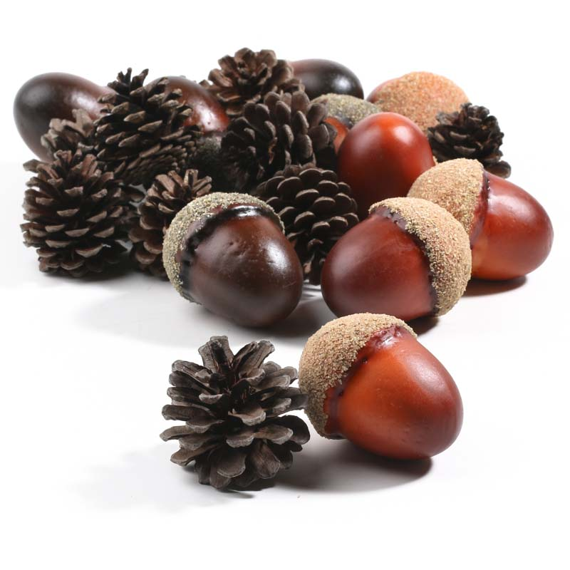 large artificial acorns and pinecones 2 - Western Wedding Supplies