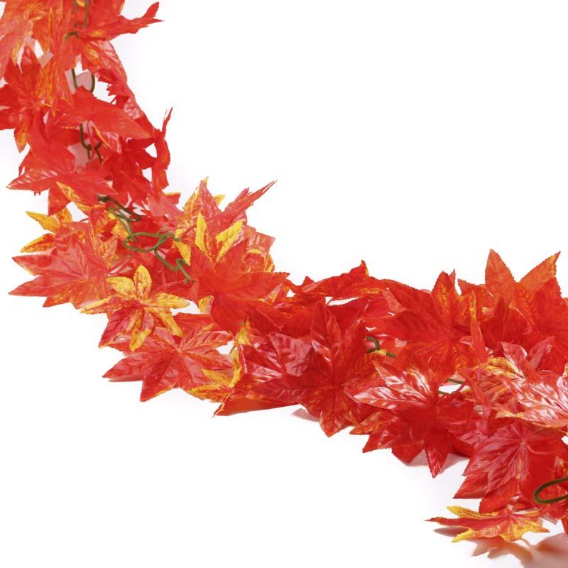 Artificial Autumn Maple Leaf Garland Garlands Floral