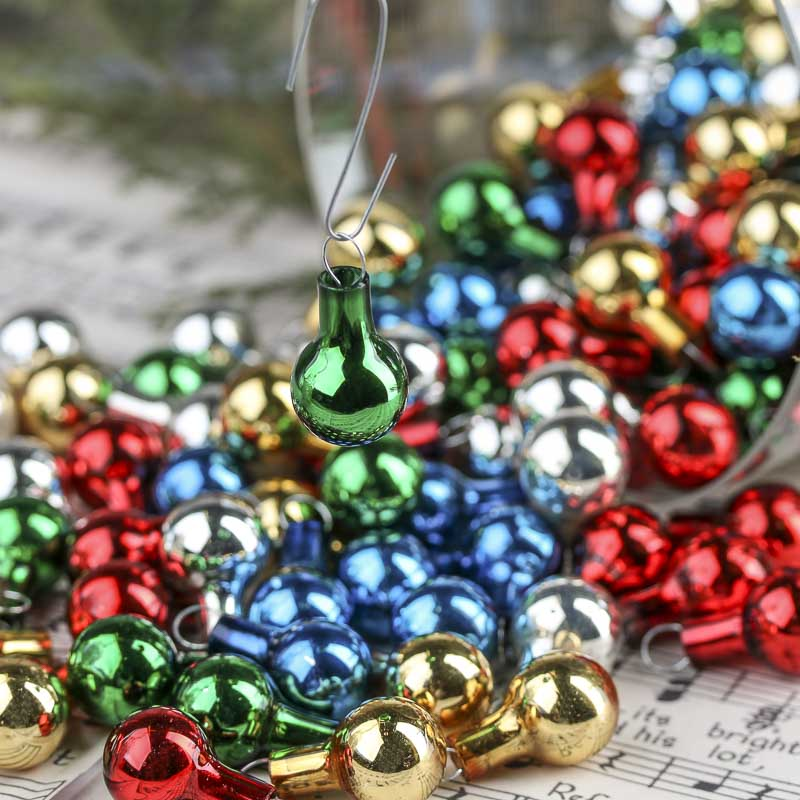 Miniature Glass Ball Ornaments  Christmas Ornaments  Christmas