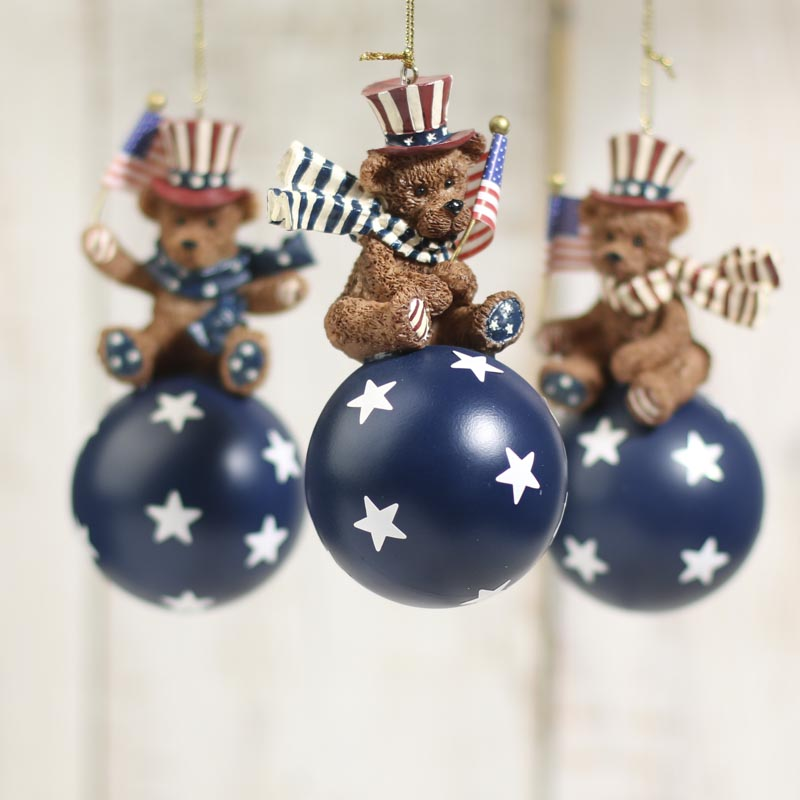 Americana Bear Ornament Primitive Sale Sales Home Decor Party Special Occasions