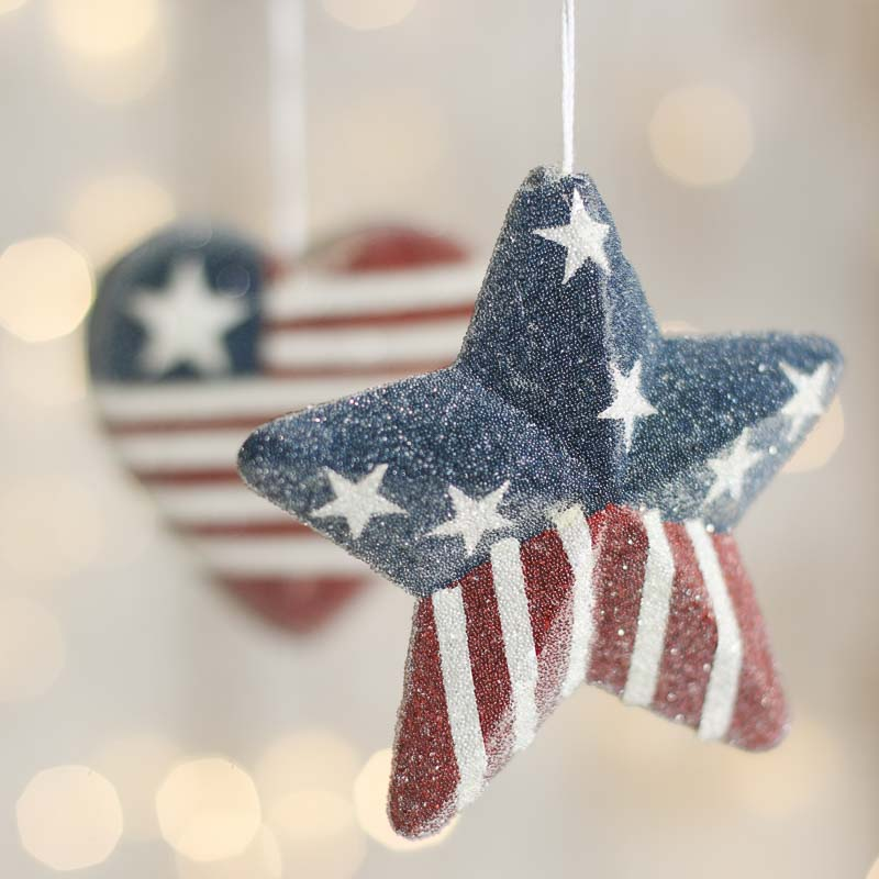 Click Here For A Larger View - Icy Americana Christmas Ornament - Christmas Ornaments - Christmas
