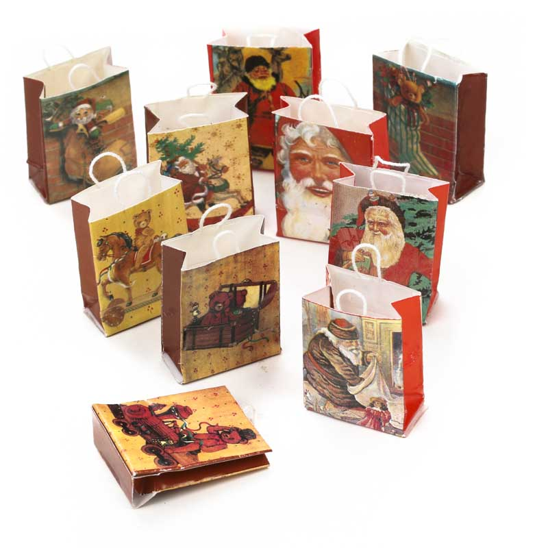Dollhouse Miniature Old World Christmas Gift Bags Christmas And Winter Sale Sales Home