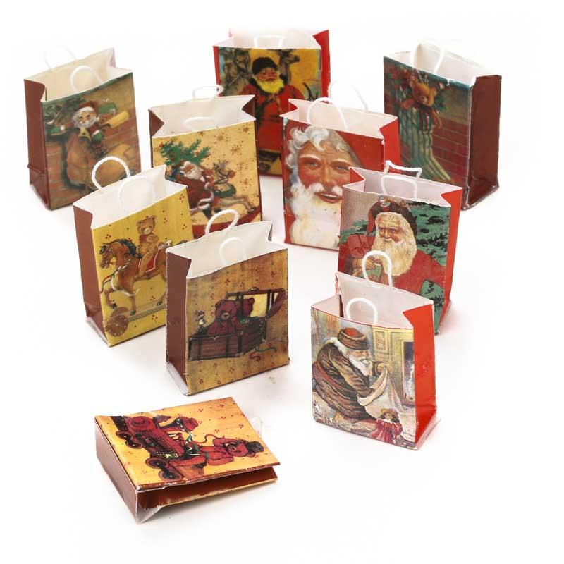 Dollhouse Miniature Old World Christmas Gift Bags - Christmas ...
