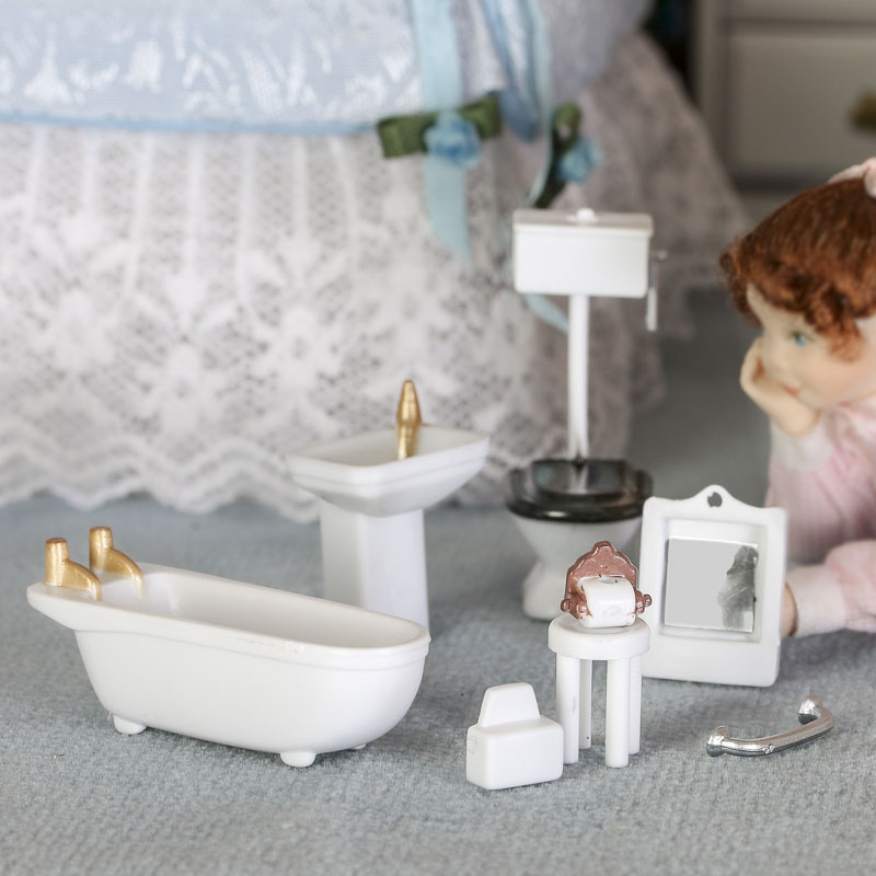 Make Your Own Dollhouse Miniature Bathroom Accessories