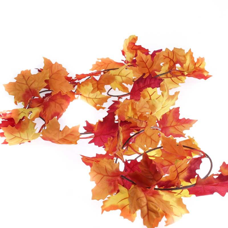 Autumn artificial maple leaf garland garlands floral