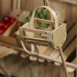 Dollhouse Miniature Wood Crate Basket