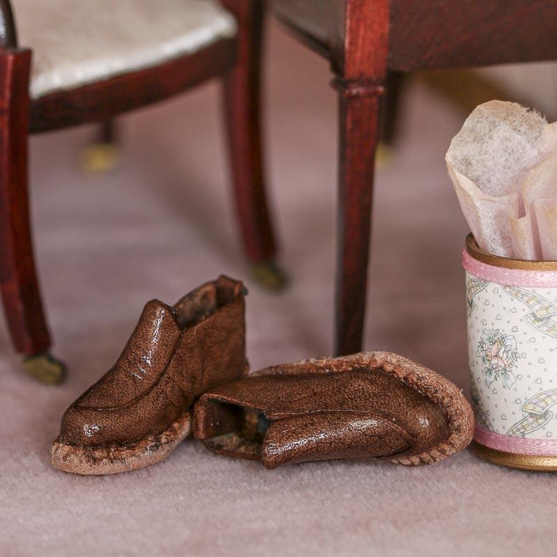 Miniature Leather Shoes Fairy Garden Miniatures