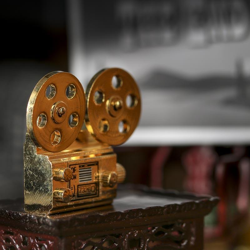 Dollhouse Miniature Gold Movie Film Projector Fairy Garden