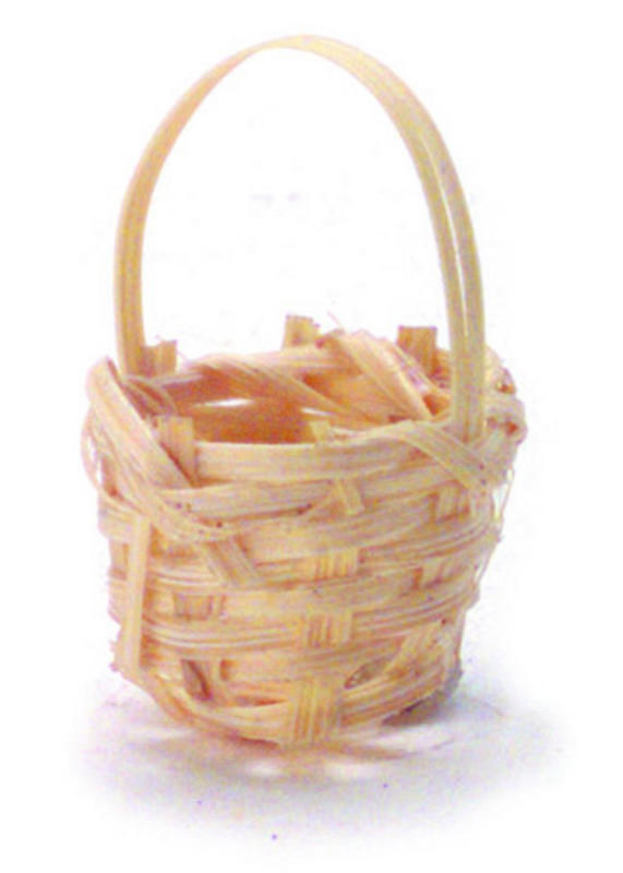 Bamboo Basket Making Supplies : Dollhouse miniature wicker basket fairy garden