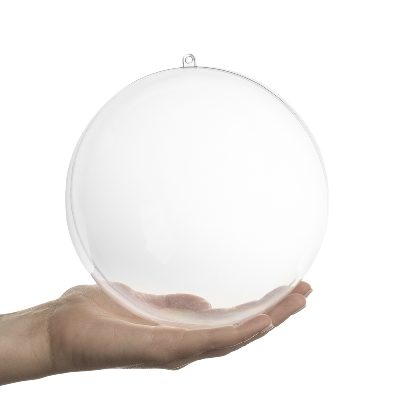 156mm clear acrylic fillable ball ornament acrylic for Clear plastic balls for crafts