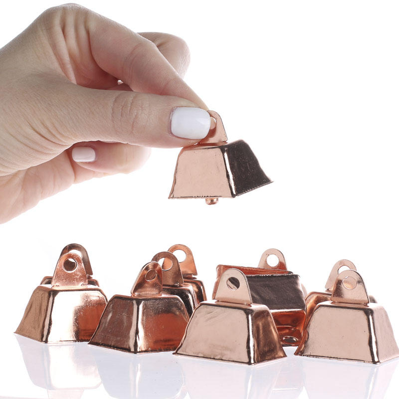 Small Copper Cowbells Sports And Cheerleading Party Special Occasions Home Decor Craft