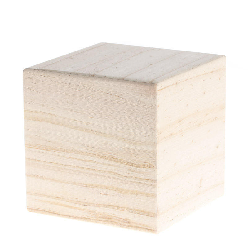Unfinished wood cube wooden cubes unfinished wood for Wooden craft supplies online
