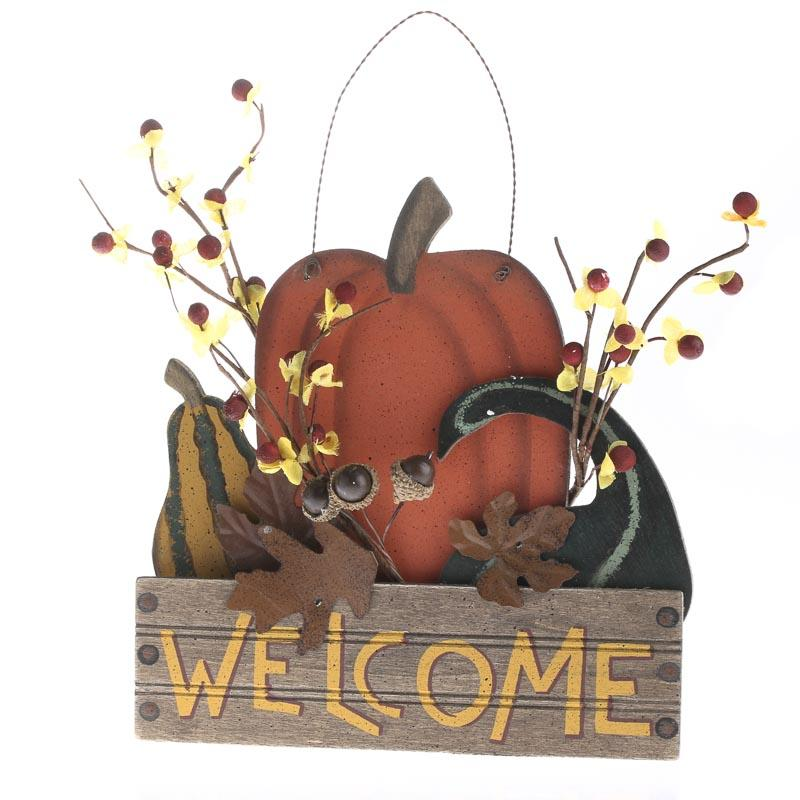 Quot Welcome Quot Primitive Fall Hanger Thanksgiving Holiday