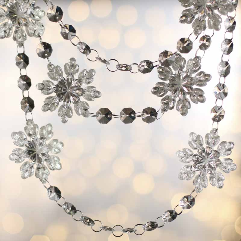 Acrylic Snowflake Crystal Garland Christmas Garlands