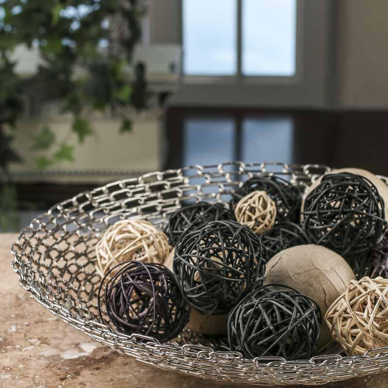 Large Handmade Metal Chain Link Bowl On Sale Home Decor