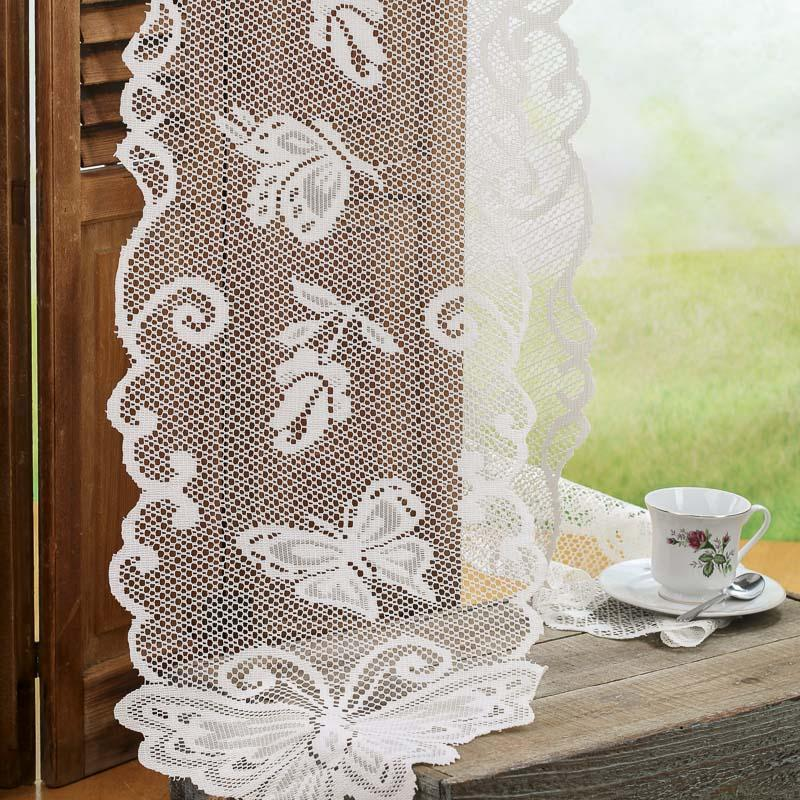 Ivory Lace Butterfly Doily Table Runner Table Covers And Runners