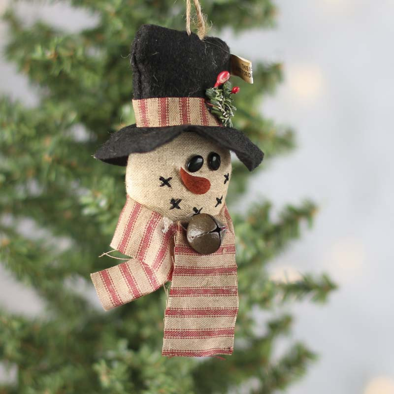 Primitive Snowman Ornament Christmas Ornaments