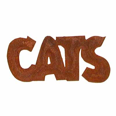 Rusty Tin Quot Cats Quot Word Cutout Signs And Frames