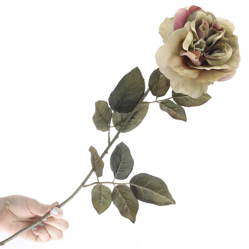Artificial dried cabbage rose floral stem picks and for Dried flowers craft supplies
