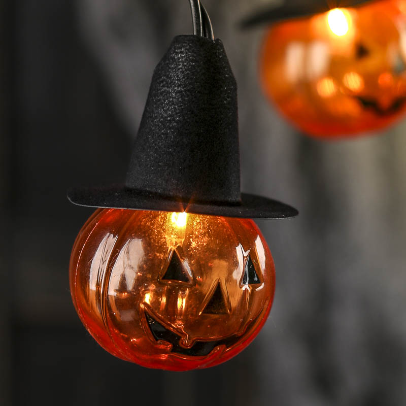 Jack O Lantern Witch String Lights Lighting And Candles