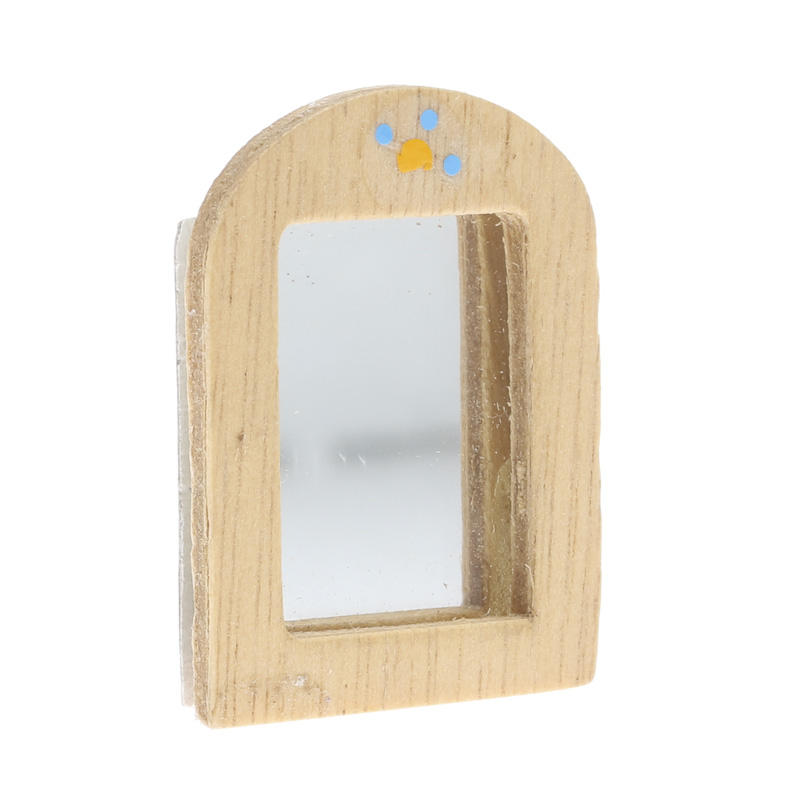 Miniature wood framed mirror bathroom laundry for Small wood framed mirrors