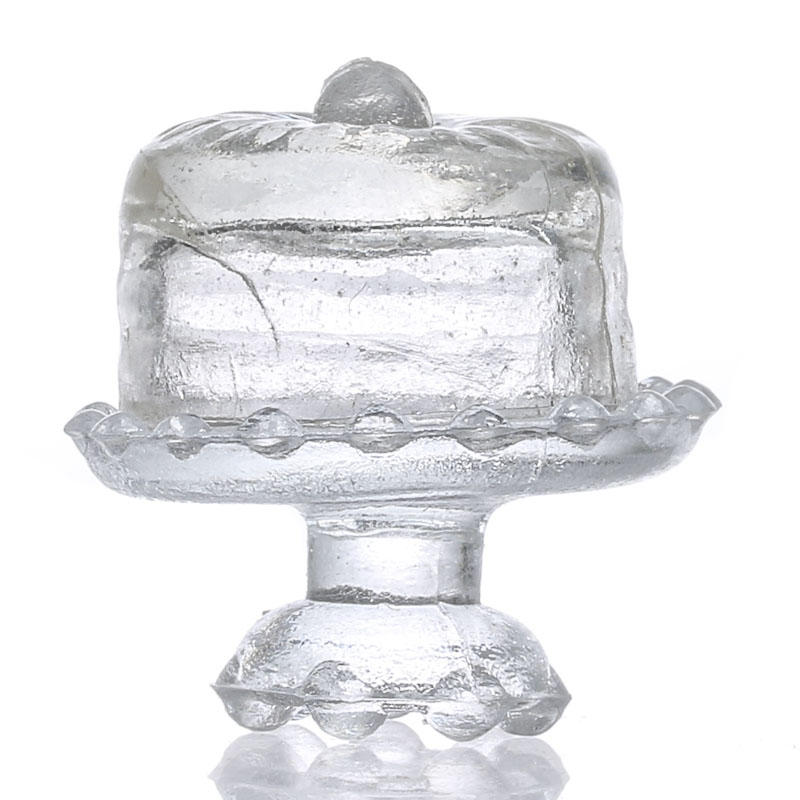 Dollhouse Miniature Glass Domed Cake Stand