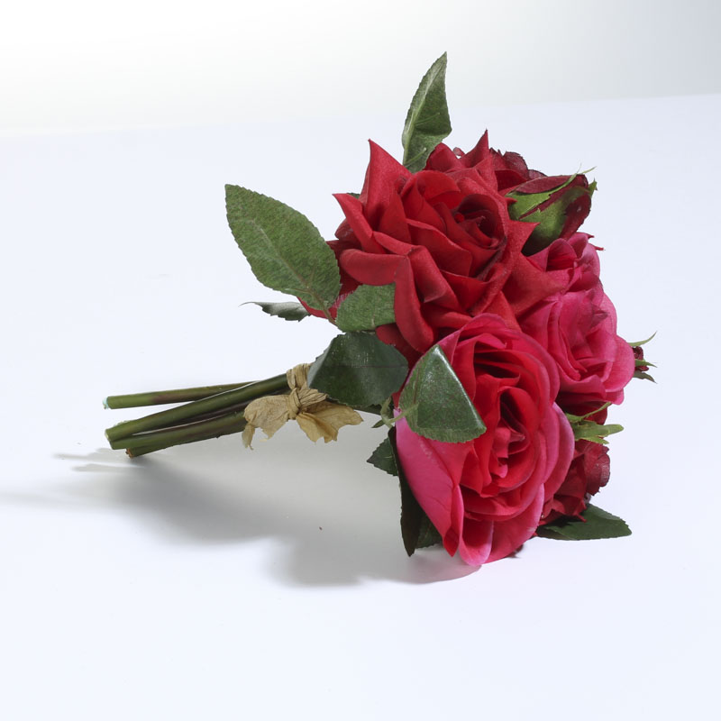 Red and Pink Artificial Rose Bouquet - Bushes and Bouquets ...