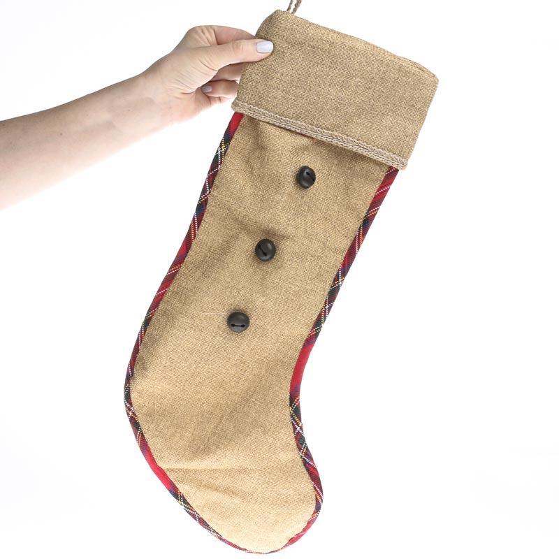 Rustic jingle bell stocking wall art christmas and