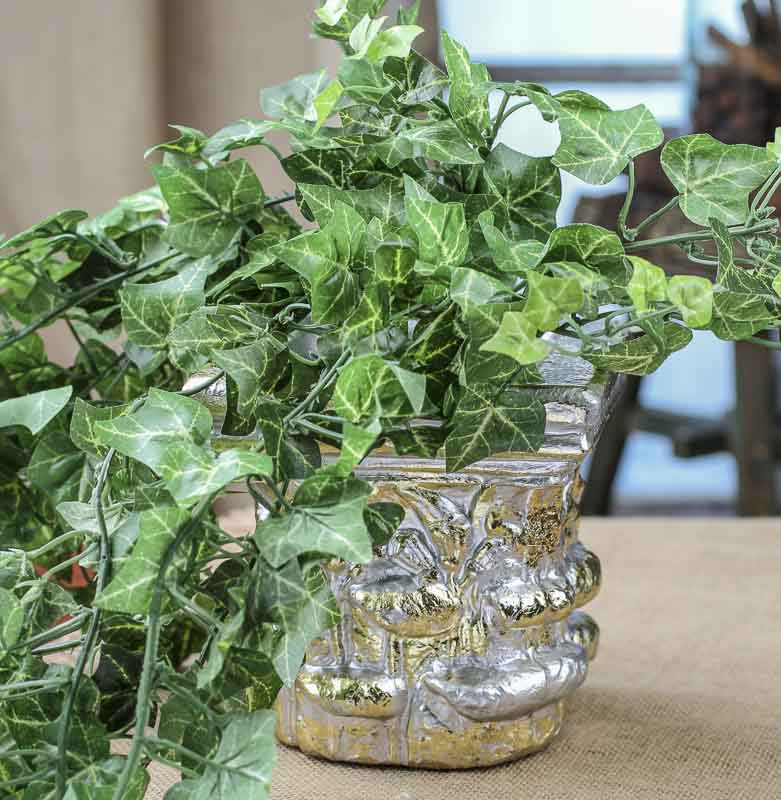 Silver And Gold Decorative Planter