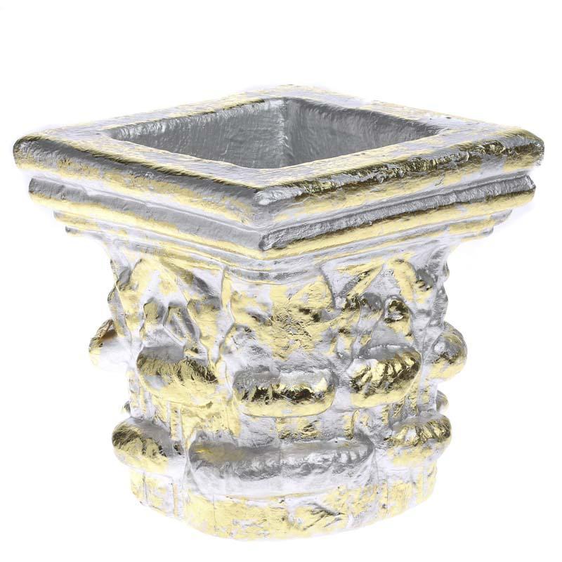 Silver Planter: Silver And Gold Decorative Planter