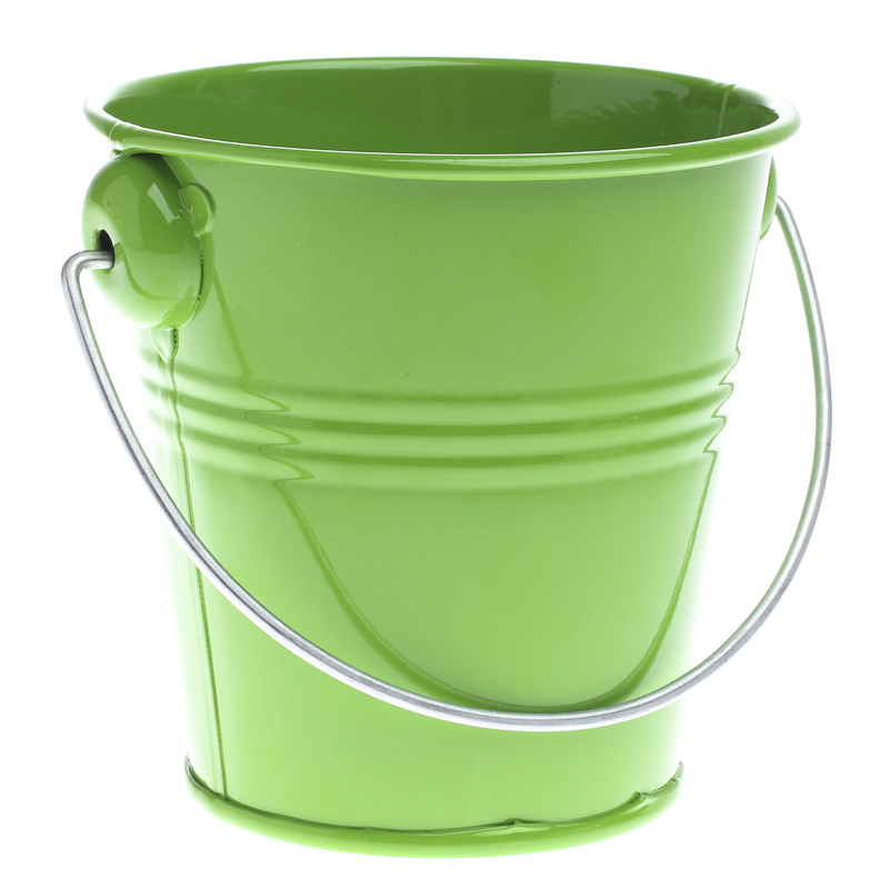 Apple Green Metal Pail