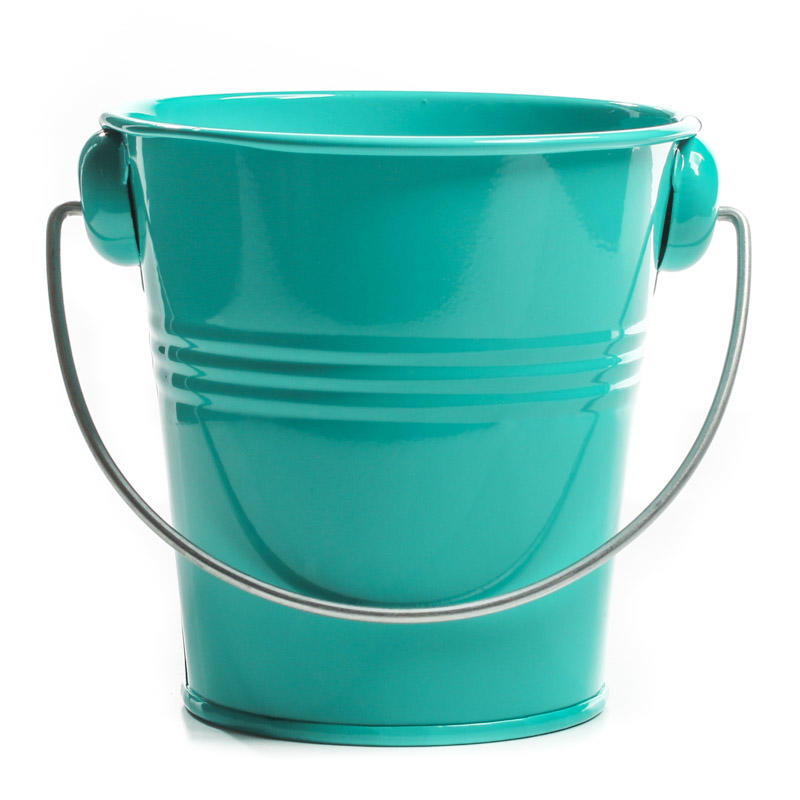 Turquoise Metal Pail Baskets Buckets Amp Boxes Home Decor